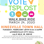 TSPOLST - Town Hall Flyer - date is February 18 from 6 - 7 p.m. at City Hall.