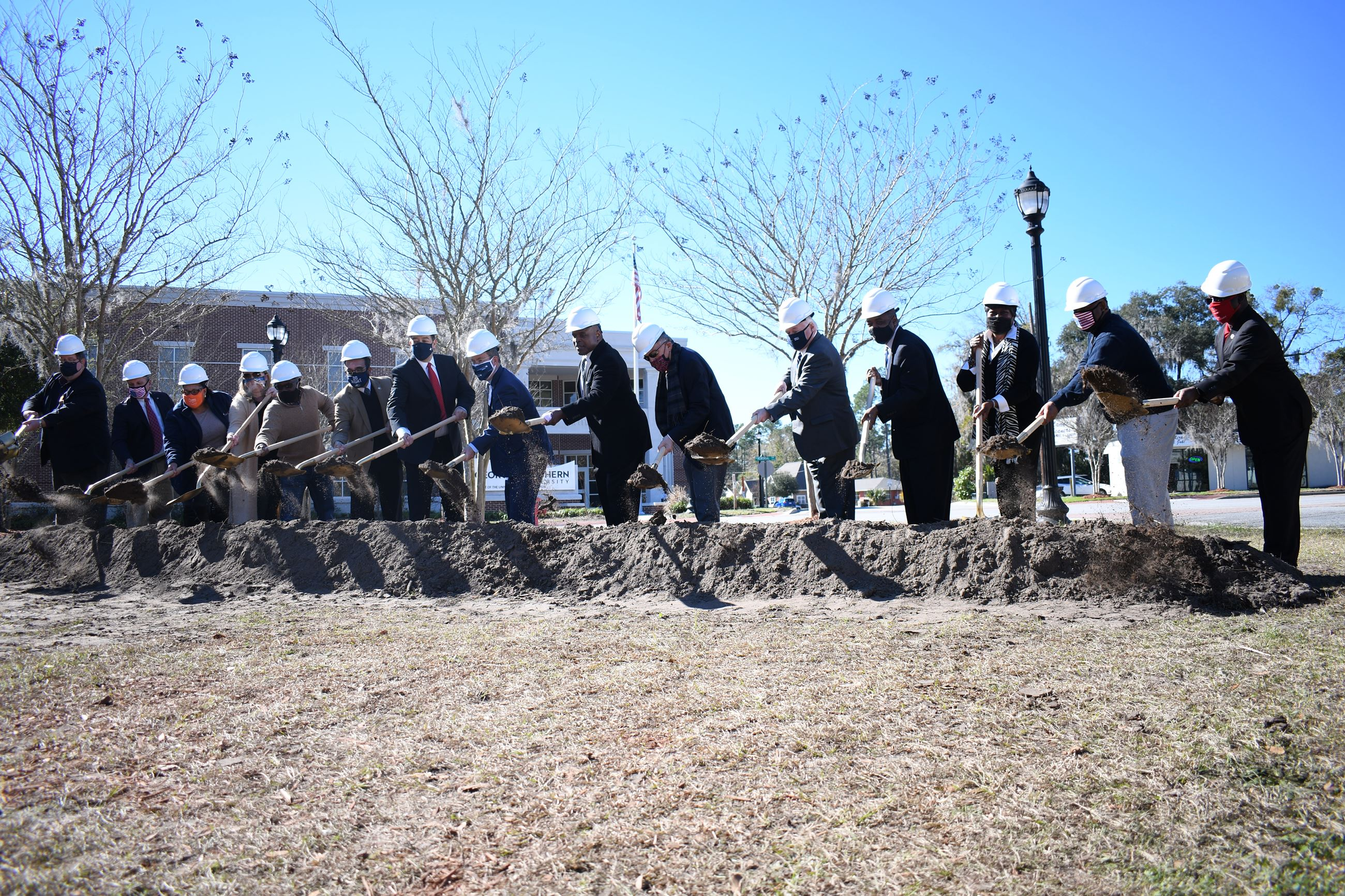 Leaders break ground on a new small business incubator in Downtown Hinesville.