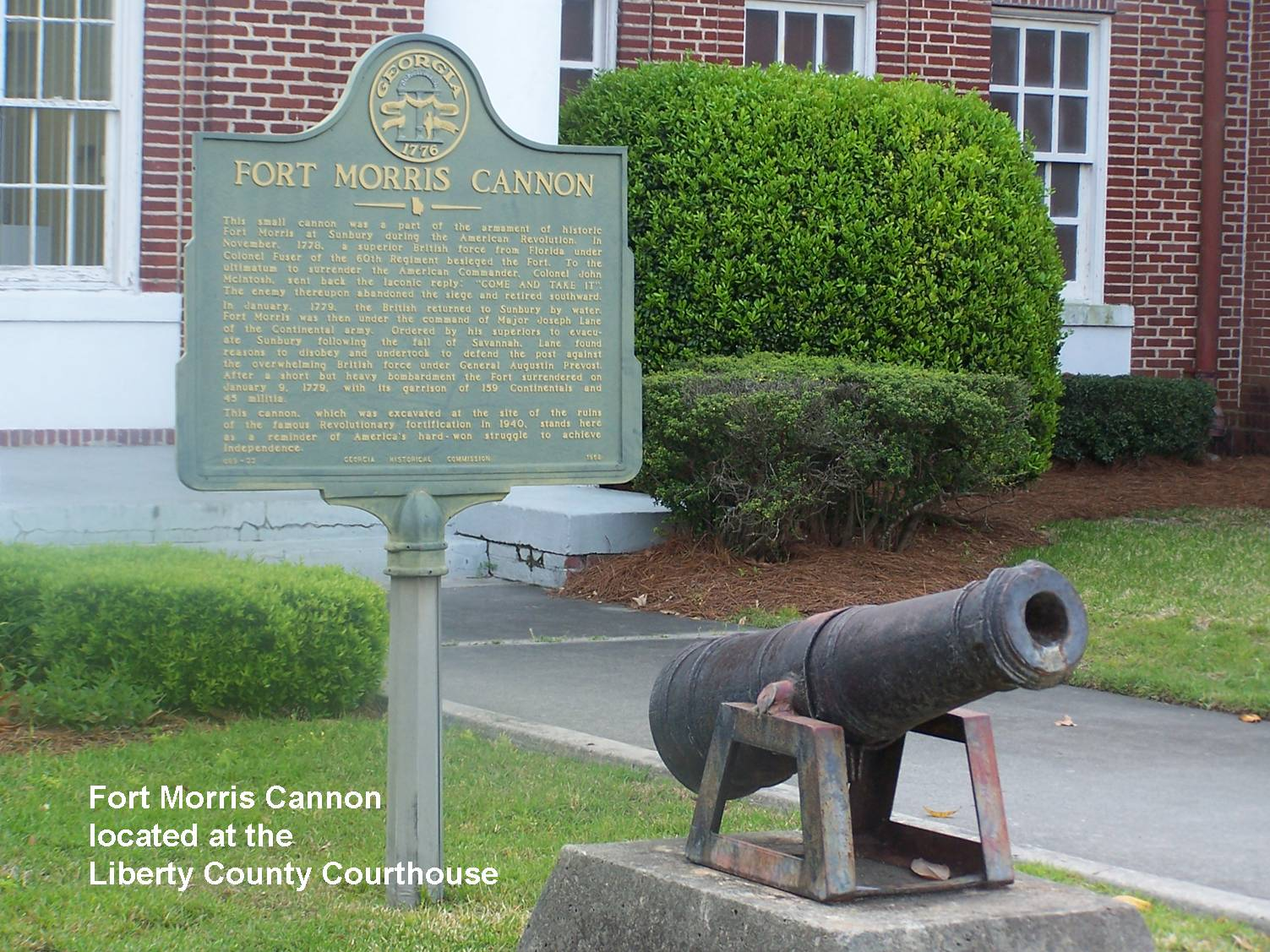 Fort Morris Cannon Marker
