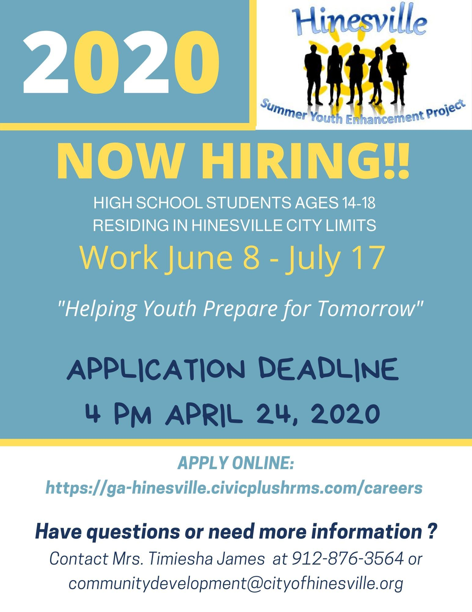Student SYEP Flyer asking interested students to apply